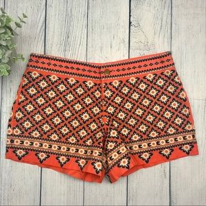 Anthropologie THML Embroidered Orange Shorts 🌸🌸